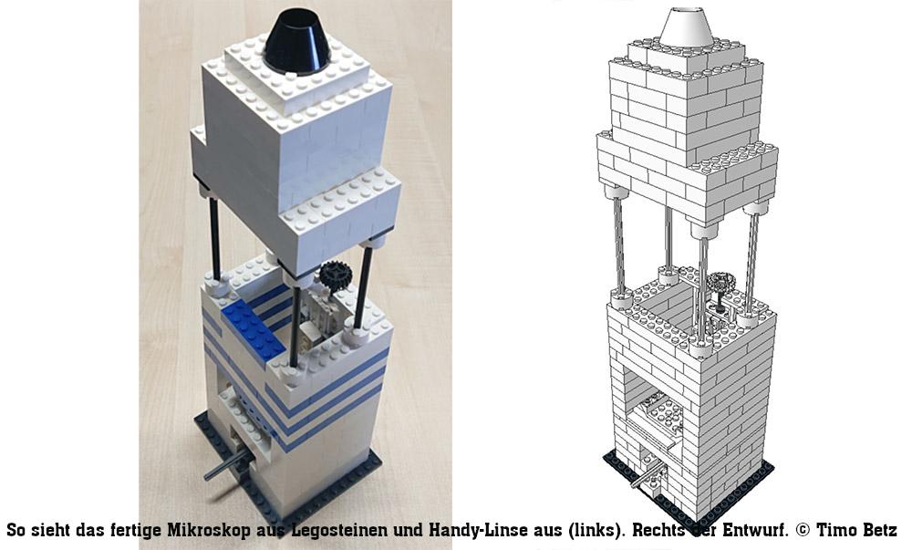 Selbstbau-Mikroskop aus Lego und Handy-Linsen